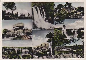 RP; 8-view postcard , ANGOLA , 50-60s