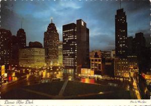 USA After Dark Detroit Michigan Street Cars