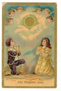 Angels watch kids pray, Thy Kingdom Come , PU-1910