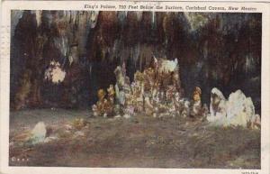 New Mexico Carlsbad Caverns Kings Palace 750 Feet Below The Surface 1946