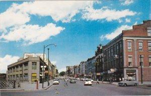 LOCKPORT, New York;East Main Street as seen from the Big Bridge, Classic Cars...