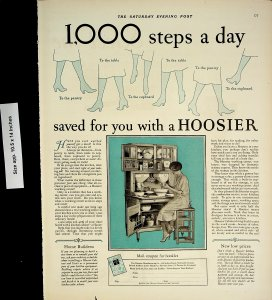1926 Cabinet Hoosier Women Stockings Vintage Print Ad 4447