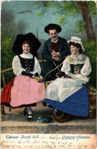 CPA  Costume Alsacien - Elsasser Tracht - Folklore - Types  (481837)