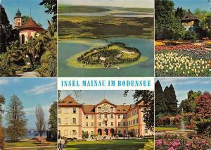 Insel Mainau im Bodensee, Gesamtansicht gegen Western, Schlosskirche Wehrturm