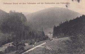 Dietharzer Grund mit dem Falkenstein und der Restauration zum Falkenstein , G...