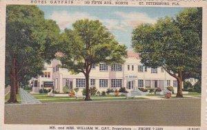 Florida Saint Petersburg Hotel Gayfair 160 Fifth Ave North MR And Mrs William...