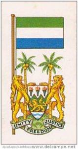 Brooke Bond Tea Vintage Trade Card Flags &  Emblkems Of The World No 1...