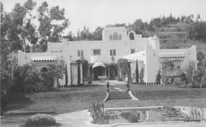 1920s California Moorish Style Home RPPC Real photo postcard 2369