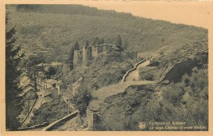 Belgium La roche de Ardenne panorama chateau et route feodale