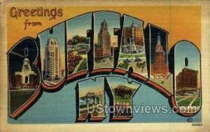 Buffalo, New York, NY Post Card Postcard Buffalo NY 1942 Missing Stamp