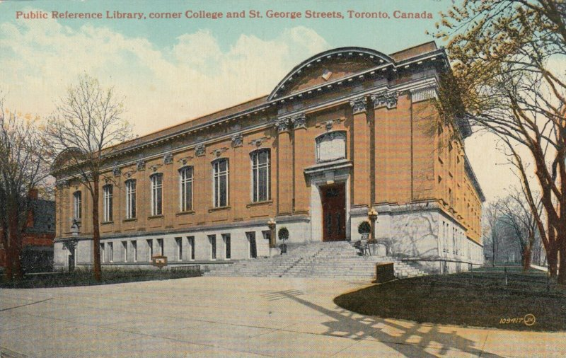 TORONTO, Ontario, Canada, 1900-10s; Public Reference Library, corner College & S
