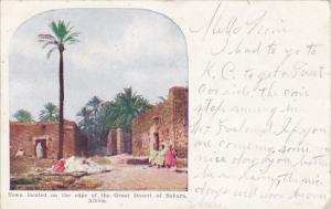 Africa Town Located On The Edge Of The Great Desert Of Sahara 1909