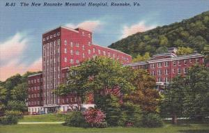 The New Roanoke Memorial Hospitol Roanoke Virginia