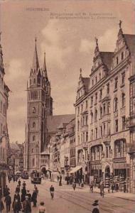 Germany Nuernberg Koenigstrasse mit St Lorenzkirche