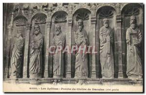 Old Postcard The Apostles Porch of Cloister of Daoulas