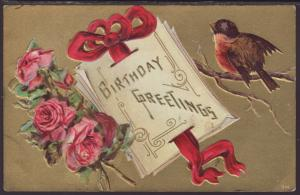Birthday Greetings,Robin,Roses