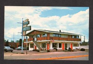 MT Peterson's Motel KALISPELL MONTANA Postcard PC