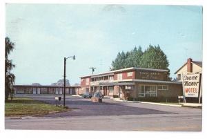 Towne Manor Motel Batavia NY 1973 Chrome