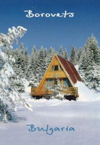 Borovets Bulgaria Skiing Village Chalet Rare Postcard