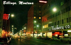 Montana Billings 1st Avenue North At Night