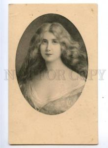 149336 Portrait BELLE Long Hair ASTI vintage Vienne Munk PC