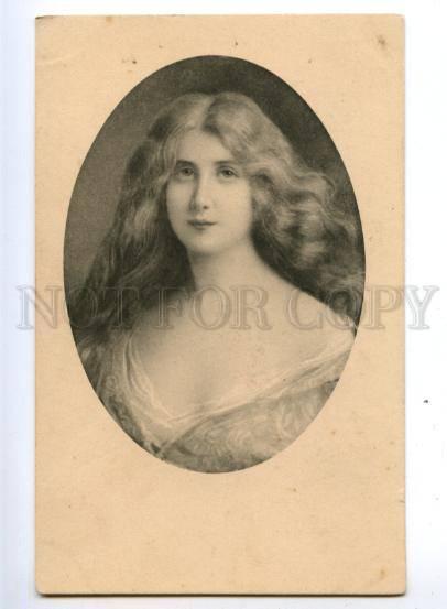 149336 Portrait BELLE Long Hair ASTI vintage Vienne Munk PC