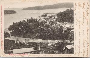 Port Maria Jamaica Birdseye c1905 El Gusto Cigar Shop Postcard E59