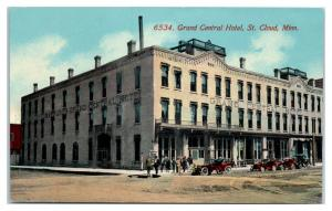 Early 1900s Grand Central Hotel, St. Cloud, MN Postcard *5E5