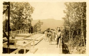 NH - North Conway. Mt Cranmore Skimobile circa 1940   RPPC