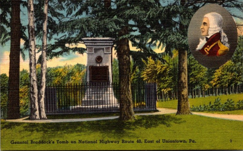 Pennsylvania Uniontown General Braddock's Tomb On National Highway Route 40