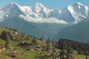 Switzerland, Suisse, Beatenberg, Waldegg 1200 m, Eiger-Monch-Jungfrau, 1971 used