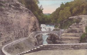 Lower Falls Bridge Over Genesee River Gorge Letchworth State Park P O Castile...