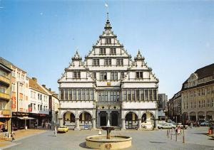 Paderborn Rathaus Brunnen Fountain Town Hall Auto Cars