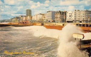 Rough Sea at Brighton Beach Promenade