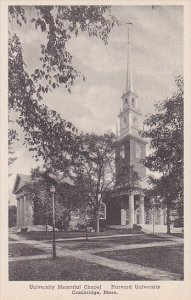 Massachusetts Cambridge University Memorial Chapel Harvard University Albertype