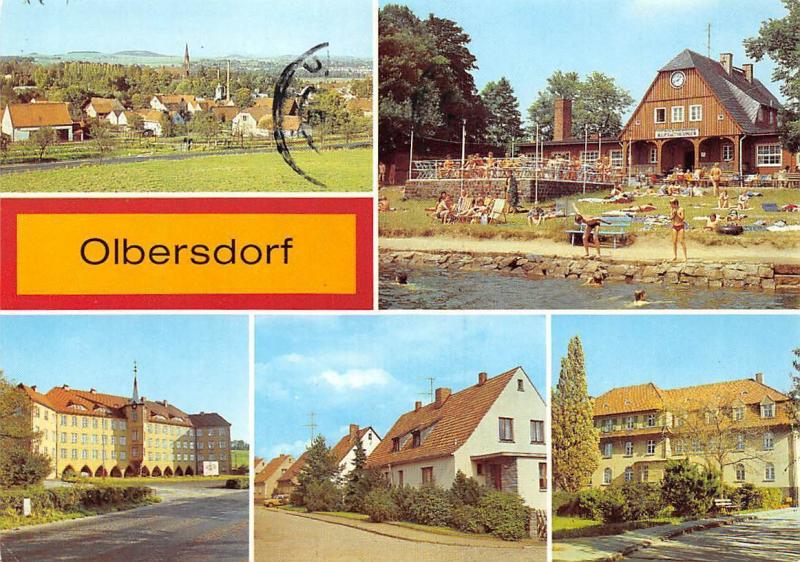 Germany Olbersdorf, Freibad Teilansicht Pylitechnische Oberschule Panorama