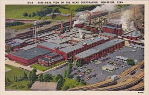 Birds Eye View Of The Mead Corporation Kingsport Tennessee