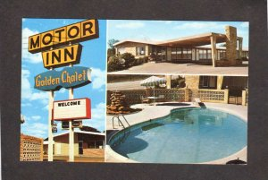 TX Golden Chalet Motel Hotel Inn Grand Prairie Texas Postcard Pool