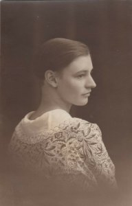 RP: Woman wearing lace shaw , 00-10s