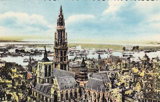 Belgium Antwerpen Anvers Panorama 1957