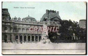 Paris Old Postcard Court of Carousel