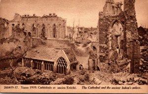 Belgium Ypres 1919 Cathedrale et ancien Eveche
