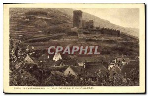 Old Postcard Kaysersberg General view of the Chateau