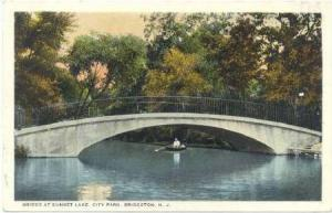 Bridge at Sunset Lake, City Park, Bridgeton, New Jersey,  00-10s