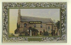 cu0978 - Parish Church , Dalmeny , South Queensferry , Scotland - postcard