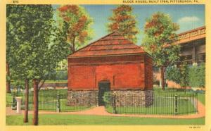 Block House, Built 1764, Pittsburgh, Pa 1949 used linen P...