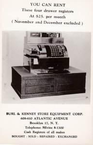 RP: BROOKLYN , NYC , 30-40s ,Burl & Kenny Store Equipment Corp', Cash registe...