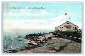 1907 Nahant MA Dancing Casino Postcard Bass Point