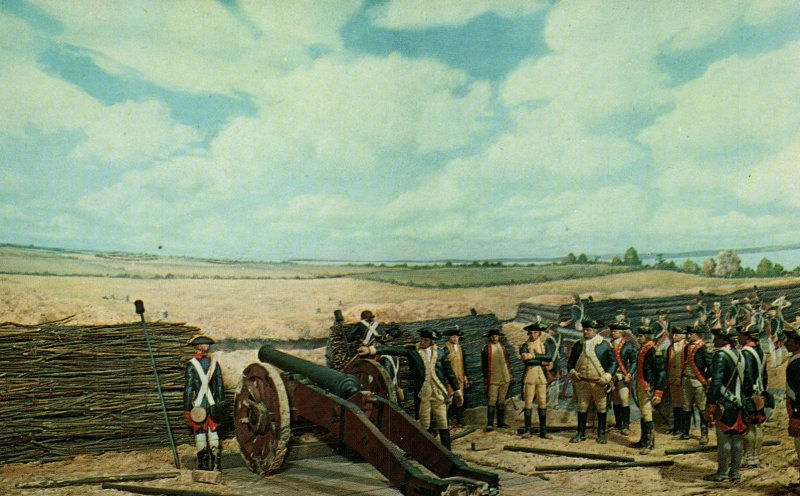 Washington Fires the First Round Painting