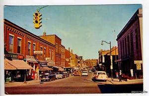 Gardiner ME Street View Old Cars Postcard